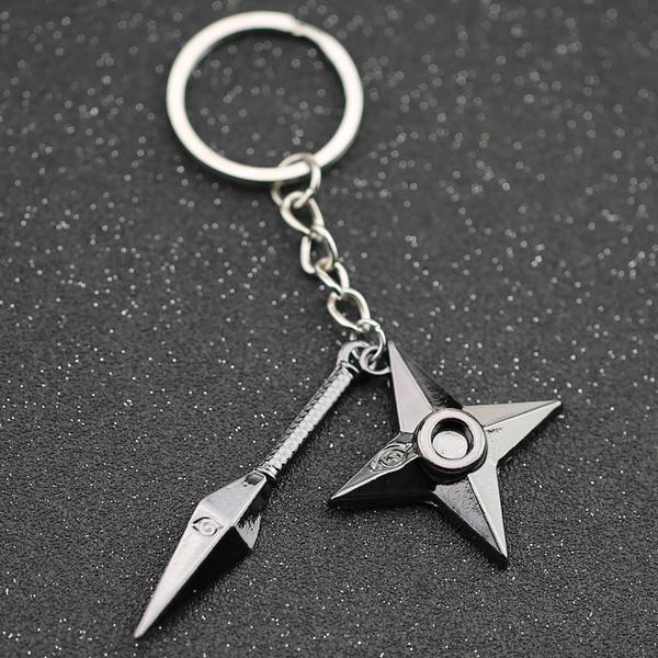 Kunai Shuriken keychain